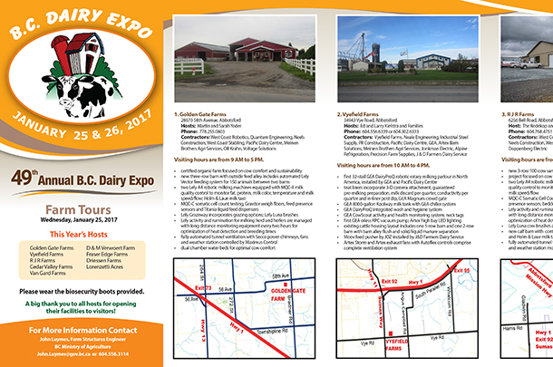 2017 bc dairy expo farm tours