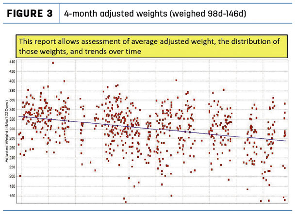 4-month adjusted wights (weighted 98d-146d)