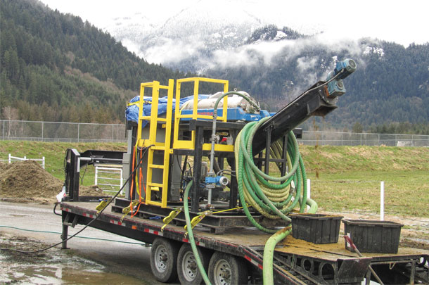 A centrifuge was tested on seven dairy farms in British Columbia to assess how much phosphorus can be extracted from dairy manure.