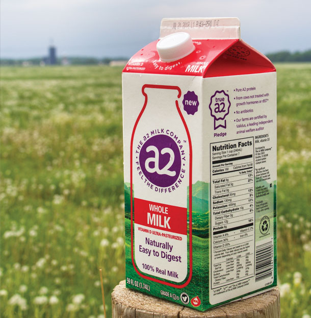 The Australia-based a2 Milk Company works with five U.S. dairy farms to supply milk for its growing brand