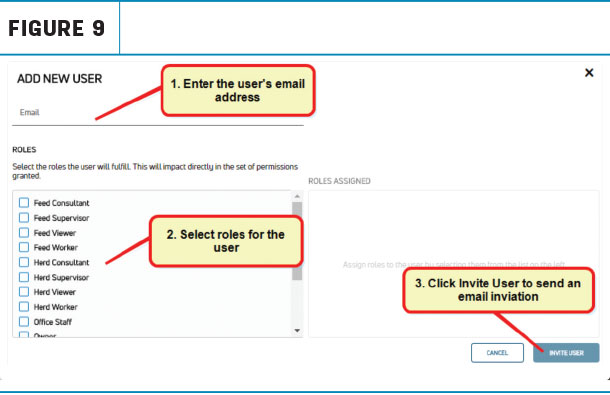 Enter in the user's email address and select the roles to which that user will be assigned