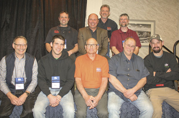 Incoming and outgoing HTA board members: Front (left to right): Gary Buchholz, Chris Viljoen, Vic Larson, Dick West, Steve Wunderlich. Back (from left to right): Justin Addy, Philip Spence, Mark Burwell, Chris Weingart