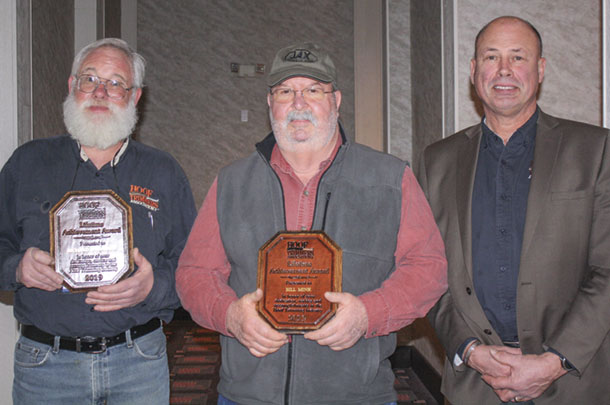 HTA President Philip Spence (right) presented Richard Weingart and Bill Mink with lifetime achievement awards.