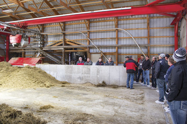 A visit to Mehr Dairy was the first opportunity for many to see automated feeding in action.