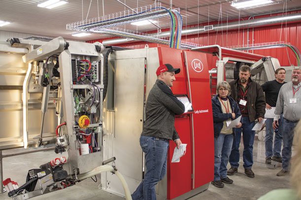 At the Lely Training Center, participants could open up the equipment and learn more about what maintenance is required and how often.