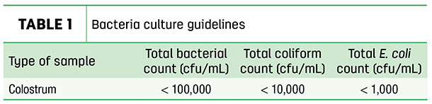 Bacteria culture guidelines