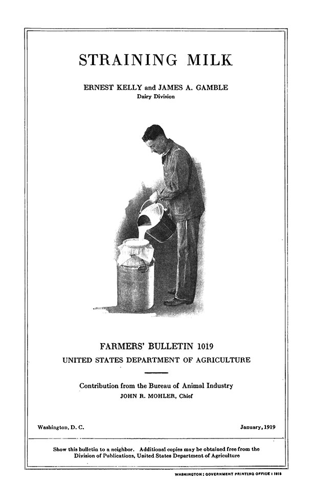 1919 USDA guide cover