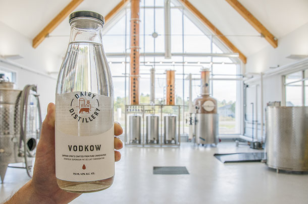 Vodkow is produced out of the Dairy Distillery